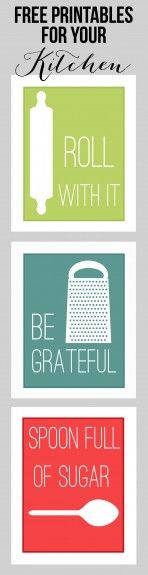 "Fun Kitchen Printables, free.  Love the ""Be Grateful"" :)"