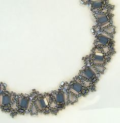 Free Bead Patterns and Ideas by Sandra D Halpenny : New Tila Lace Necklace - Free pattern