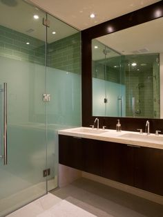 Bathroom - - Contemporary Bathroom With Wet Room - More Bathroom Area With Frameless Shower Doors Frosted Glass Door Bathroom, Frosted Shower Doors, Bathroom Shower Doors, Glass Shower Doors, Small Bathroom, Glass Showers, Glass Doors, Frameless Shower, Bathroom Layout