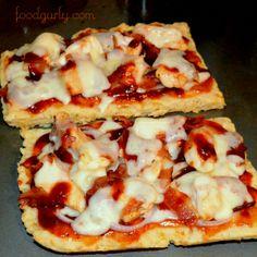Gluten-Free BBQ Chicken Flat Bread Pizza!!