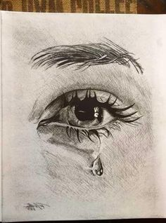 art Projects For Adults is part of Adult Craft Ideas Lots Of Crafts For Adults - Drawing Eyes Crying Pencil Art 29 Ideas Realistic Pencil Drawings, Cool Art Drawings, Pencil Art Drawings, Art Drawings Sketches, Sketches Of Eyes, Drawing With Pencil, Pencil Sketch Art, Realistic Eye, Pencil Painting