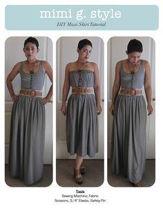 mimi g.: DIY Tutorial: Maxi Skirt! Start to Finish Video