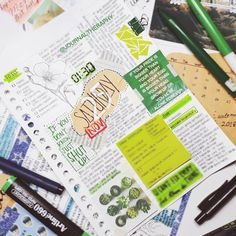 """26 Likes, 1 Comments - Bujo Theraphy (@journaltheraphy) on Instagram: """"Greengreengreen refreshingly green for today 🍃 . . . #journaltheraphy #bulletjournallayout…"""""""