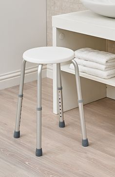 The Adjustable Shower Stool has anti-slip ferrules to prevent it sliding in the shower.