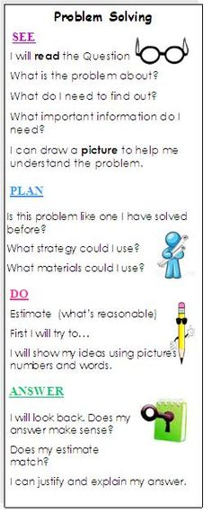 Here's a nice problem solving bookmark.