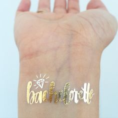 BACHELORETTE Metallic Gold and Silver Temporary by LoveAndLion