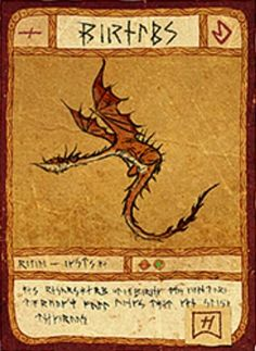 Monsterus Nightmare Card How To Train Dragon, Book Dragon, How To Train Your Dragon, Dragon Fish, Dragon Art, Dragon Project, How Train Your Dragon, Httyd Dragons, Dragon Drawing