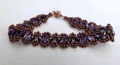 Bracelet Beaded Feature chain Lace Design Cooper Tone by krantwist, $21.99