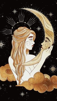 Witchy Wallpaper, Arte Sketchbook, Goddess Art, Witch Art, Hippie Art, Moon Art, Psychedelic Art, Aesthetic Art, Art Inspo