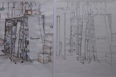 Interiors, Pen & Watercolour 2012