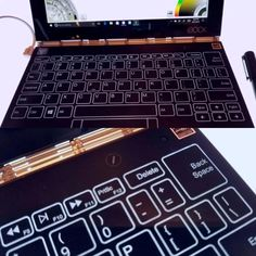 We went hands-on with Lenovo's strangely fascinating new Yoga Book, which might be the company's boldest/oddest experiment yet. The device operates on the principle that people still like writing things the old-fashioned way - as in writing with pen on paper. You can actually grab a pad, stick it on the second surface and write away,and the Yoga Book will go to town digitizing it. Check the link in bio for the full scoop.  #YogaBook #Lenovo #ifa2016 #tech #laptop #gadgets #hardware