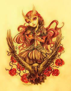 .Raven Queen. by fantazyme.deviantart.com on @deviantART