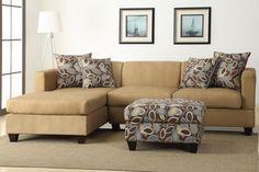 2 PC Lodi Khaki Sectional Sofa by Urban Cali