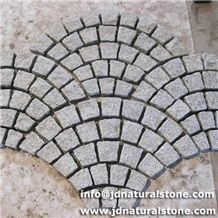 Mesh Paving Stone/ Granite Cobble Stone with Mesh/ Granite Paving Stone Mat, Grey Granite Paving Stone Paver Patterns, Paving Pattern, Granite Paving, Granite Stone, Cobblestone Driveway, Cobbled Driveway, Modern Driveway, Paving Ideas, Paver Stones