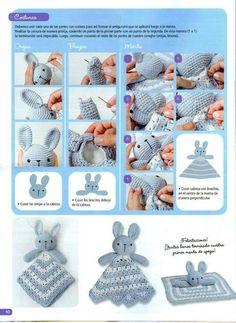 Mesmerizing Crochet an Amigurumi Rabbit Ideas. Lovely Crochet an Amigurumi Rabbit Ideas. Crochet Security Blanket, Crochet Lovey, Crochet Baby Toys, Crochet Rabbit, Crochet Amigurumi, Crochet Doll Pattern, Crochet For Kids, Crochet Dolls, Crochet Baby Booties