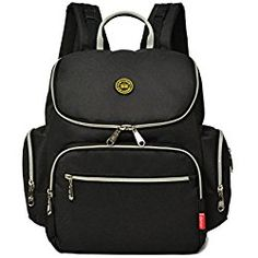 Baby Diaper Bag Backpack with Stroller Straps and Insulated Pockets Foldable Waterproof Diaper Bag for Men and Women
