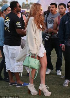 Lindsay Lohan spotted at Coachella in Jeffrey Campbell Lita platforms...@soleAtlantaGa carried these!