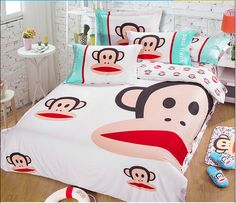 2014 Best Kids Cotton Bedding Sets 4pcs Cartoon Bedding set Cotton include Duvet Cover Bed sheet Pillowcase Cotton Bedding Sets, Paul Frank, Bed Sheets, Cool Kids, Comforters, Duvet Covers, Pillow Cases, Toddler Bed, Cartoon