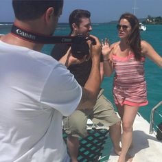 Not a bad way to spend a Sunday-interviewing on a catamaran in Jamaica Country Weekly gets all credit. Celebrity Wedding Photos, Celebrity Weddings, Country Boys, Country Music, Chris Young Songs, Alan Young, Angel Man, Easton Corbin, Justin Moore