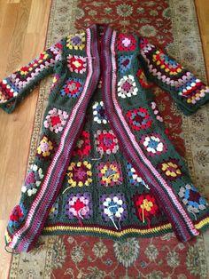 Boho Granny Square Coat. | Foray Into Victorian-Age Madness