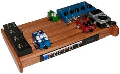 custom handmade wood pedal board