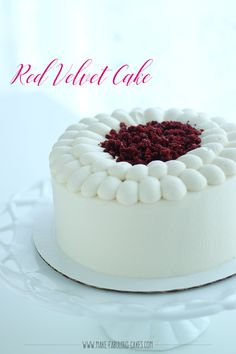 Yummy Red Velvet Cake Recipe with Cream Cheese Italian Meringue Frosting by Make Fabulous Cakes