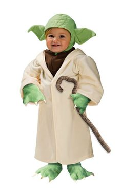 toddler Yoda Halloween Costume -- This is the only costume that seems decent enough... hopefully my will-be-5-year-old will fit it... or I will have to make one...