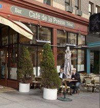 Cafe de la Presse. SF  Definitely go for Brunch/Breakfast