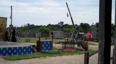 Video of a large trebuchet and other medieval siege weapons filmed during in a special demonstration at the Chateau de Tiffauges in the  Vendée.