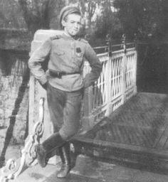 Alexei imitating the guards at the Alexander Palace, 1917