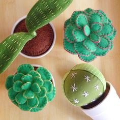 """""""Potted, plush plants - by far, the easiest to care for. Felt Diy, Felt Crafts, Fabric Crafts, Crafts To Make, Easy Crafts, Sewing Crafts, Sewing Projects, Craft Projects, Felt Flowers"""