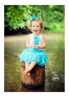 Old Barrel in water with little girl.  So cute.  StephanieFisher Photography.