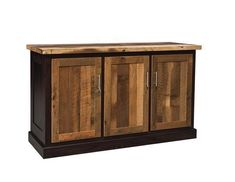 Amish Croft Reclaimed Barnwood Server Bring rich rustic character to the dining room as you store and serve! Lots of custom options available for the Croft including door style, finish color, hardware and more!