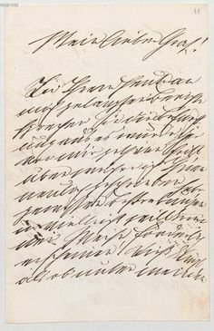 Letter from King Ludwig II. von Bayern, 1886