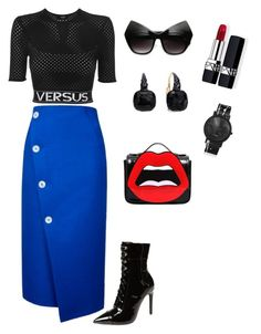 """""""Untitled #243"""" by stylistrr on Polyvore featuring Topshop, Versus, Jeffrey Campbell, Yazbukey, Pomellato, Christian Dior and South Lane"""
