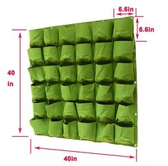 AmazonSmile: Prudance Vertical Wall Garden Planter, 36 Pockets, Wall Mount Planter Solution ( 40 in x 40 in ): Patio, Lawn & Garden