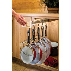 Glideware 6-In W X 3-In H Wood Single Tier Pull Out Cabinet Cookware Organizer Ggldw14.Bc5