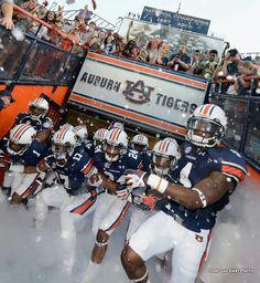 Auburn takes the field!   #WarEagle #AuburnFootball    #NCAA #CollegeFootball  For Great Sports Stories, Funny Audio Podcasts, and Football Rules Tutorial RollTideWarEagle.com