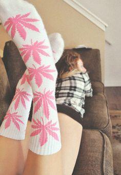 Pink Huf Socks!