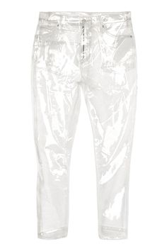 MOTO Clear Plastic Straight Leg Jeans - Jeans - Clothing - Topshop Europe