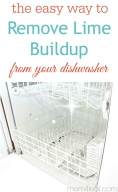 Clean Your Dishwasher & Remove Hard Water Deposits