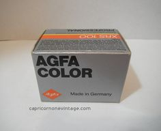 Vintage 1980s Agfa Color Film Expired 1987 by CapricornOneEphemera, $7.00