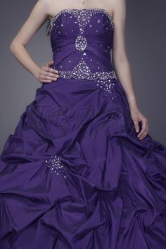 Luxurious Ball Gown Sleeveless Sweetheart Floor-length Anderai's Prom/Quinceanera Dress