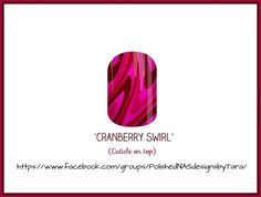 """""""Cranberry Swirl"""" My other new design! ❤ Order info in my FB group. PolishedNASdesignsbyTara #jamberry #jamberryaddict #jamberrynas #customdesign #nailart #motd #ootd #fashion #style #nailspiration #color #art #fun #unique #prettynails #mani #pedi #nailsonpoint #love #shopping #treatyourself"""