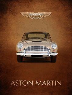 Aston Martin Db5 Print By Mark Rogan