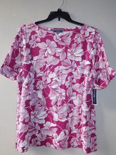 NEW Karen Scott Plus size 2X Womens Boatneck Cuffed Sleeves Pullover Top Shirt  #KarenScott #Blouse