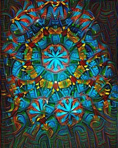 I decided to run the kaleidoscope picture through a Google deep dream filter to see what it would look like and it came out pretty cool. #deepdream by matthewrobjones