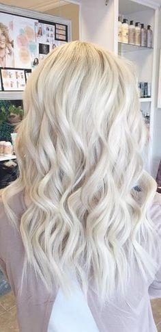New Hair Color Highlights Gray Curls Ideas Hair Color Highlights, Ombre Hair Color, Blonde Color, White Blonde, Hair Colors, Gray Ombre, White Hair, Brown Hair, Ice Blonde Hair