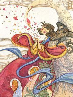 beautiful Alina Chau painting! Ice-Cream Monster Toon Cafe blog