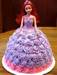New Birthday Cake Girls Princess Ideas Barbie Doll Birthday Cake, Barbie Torte, Bolo Barbie, New Birthday Cake, Girl Birthday, Barbie Dolls, Princess Birthday Cakes, Princess Cakes, Disney Birthday